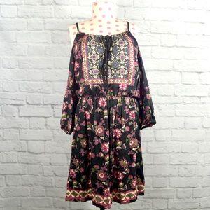 Boho Open Shoulder Dress